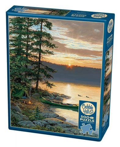 Canoe Lake jigsaw | 500 pieces | Cobble Hill Family Puzzle