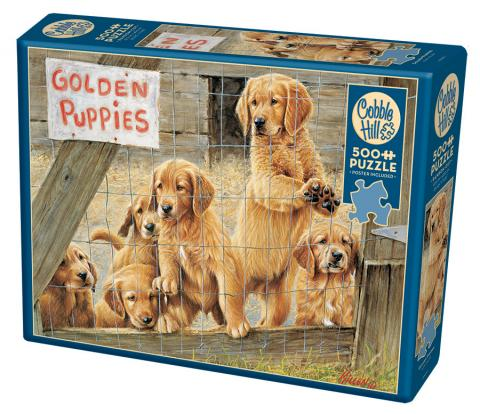 Golden Puppies jigsaw | 500 pieces | Cobble Hill Family Puzzle dog puppies