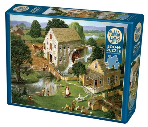 Four Star Mill jigsaw | 500 pieces | Cobble Hill country side puzzle