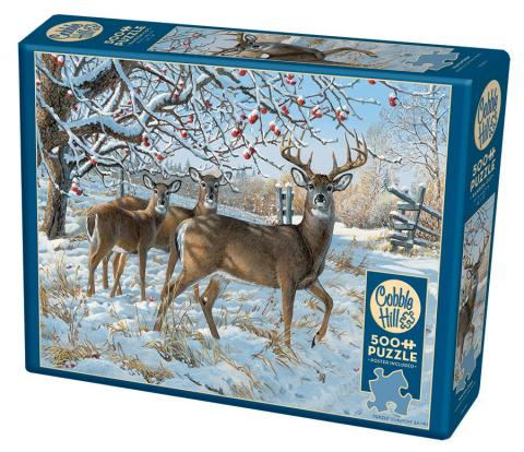 Winter Deer 500 pc puzzle Cobble Hill Puzzle Co animal jigsaw