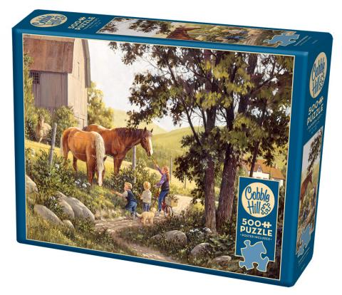 Summer Horses - Cobble Hill Puzzle Co - 500 piece - horse jigsaw