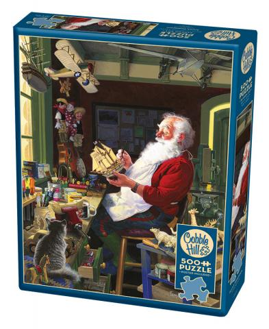 Santa's Workbench 500 piece Christmas puzzle by Cobble Hill Puzzle Co