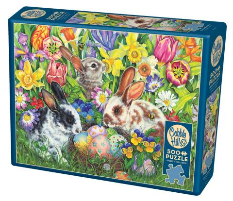 Easter Bunnies 500 piece jigsaw puzzle by Cobble Hill