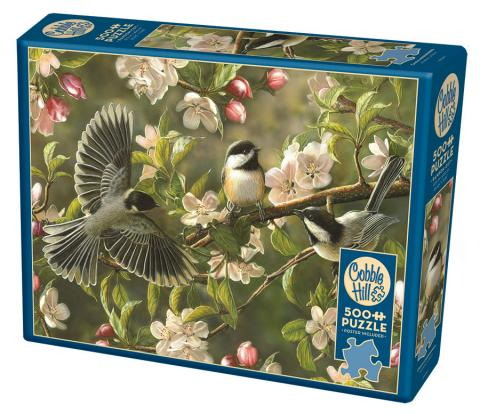 Chickadeedeedees 500 piece jigsaw puzzle by Cobble Hill