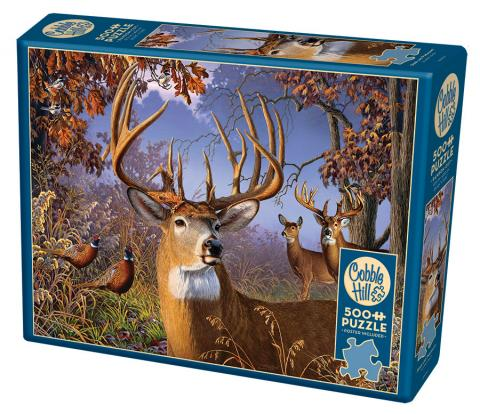 Deer and Pheasant 500 piece jigsaw puzzle by Cobble Hill
