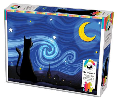 Mrowwy Night 500 piece jigsaw puzzle by Cobble Hill