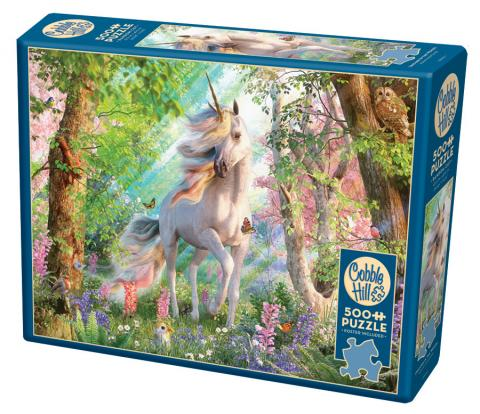 Unicorn in the Woods 500 piece puzzle by Cobble Hill