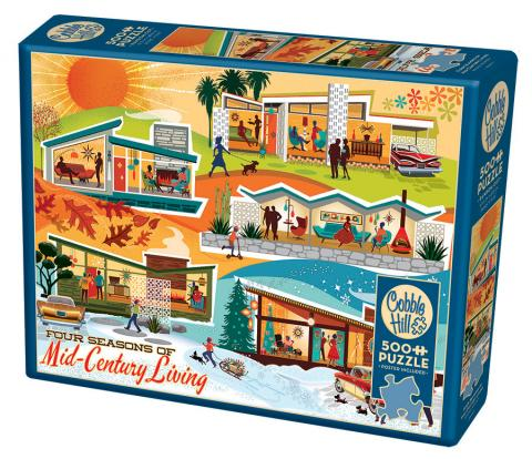 Four Seasons of Mid-Century Living 500 piece Cobble Hill puzzle