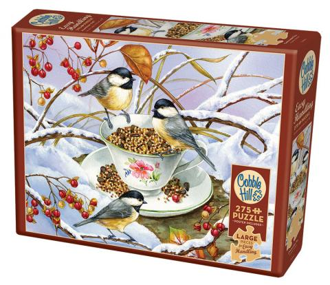 Chickadee Tea Easy Handling 275 Piece by Cobble Hill Puzzle Co