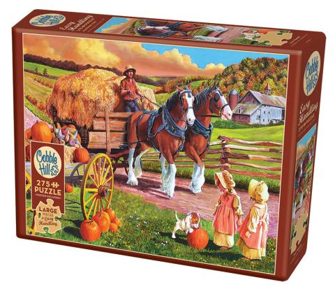 Hay Wagon Easy Handling 275 Piece by Cobble Hill Puzzle Co