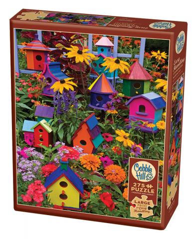 Birdhouses - Cobble Hill Puzzle Co - 275 piece Easy Handling - home and garden