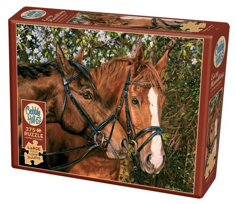 Friends Forever - Cobble Hill Puzzle Co - 275 piece Easy Handling - horse puzzle