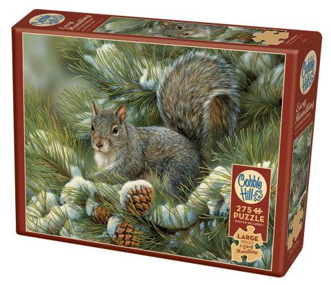 Gray Squirrel - Cobble Hill Puzzle Co - 275 piece Easy Handling - animal puzzle