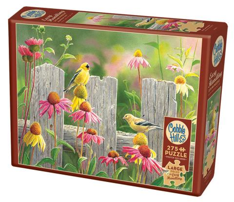 Pink and Gold - Cobble Hill Puzzle Co - 275 piece Easy Handling - bird puzzle