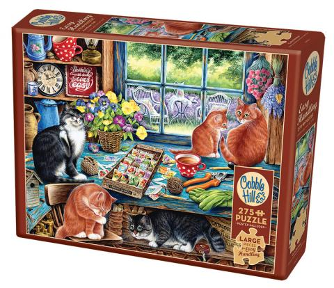 Cats Retreat - 275 piece Easy Handling cat cottage puzzle