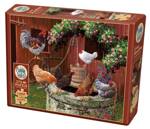 The Chickens Are Well Easy Handling 275 Piece by Cobble Hill Puzzle Co