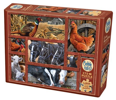 Farmyard Friends Easy Handling 275 Piece by Cobble Hill Puzzle Co