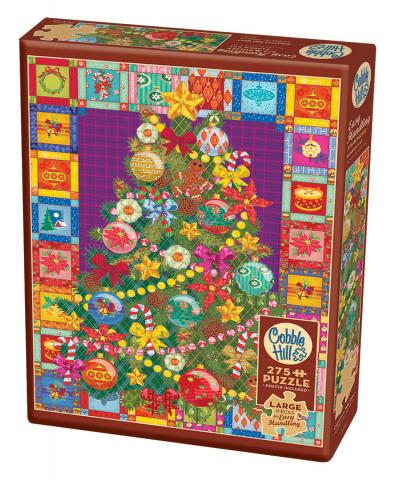 Christmas Tree Quilt Easy Handling 275 Piece by Cobble Hill Puzzle Co