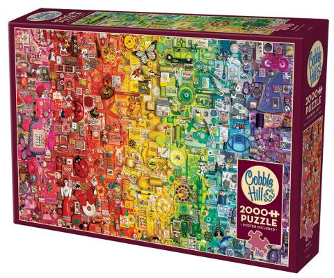 Rainbow 2000 pc puzzle Cobble Hill Puzzle Co collage jigsaw