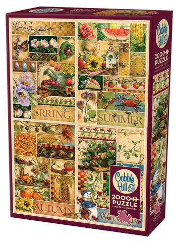 The Four Seasons 2000 pc puzzle Cobble Hill Puzzle Co collage jigsaw