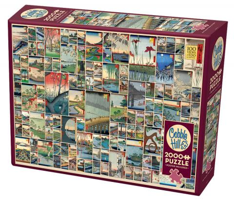 Famous Views of Edo 2000 piece jigsaw by Cobble Hill Puzzle Co