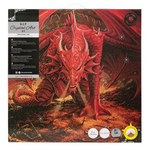 Crystal Art Extra Large Framed Kit Dragon's Lair distributed by Outset Media