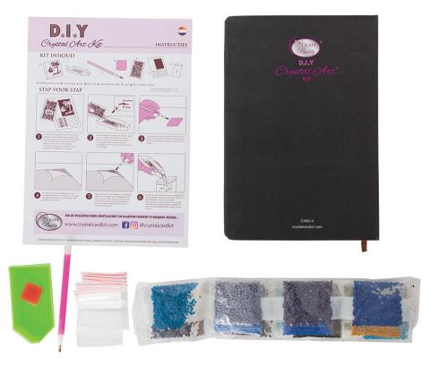 Crystal Art Notebook Kit Robin Foliage distributed by Outset Media