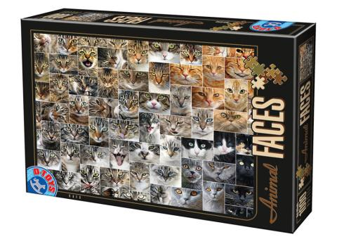 Cat Faces D-Toys 1000 piece puzzle